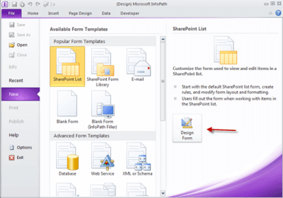 Microsoft Infopath 2013