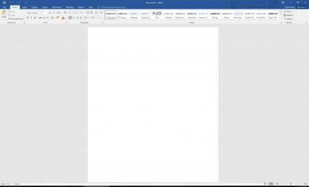 Интерфейс Microsoft Word 2016 - рис.2