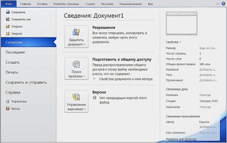 Интерфейс Microsoft Word 2010 - рис.2