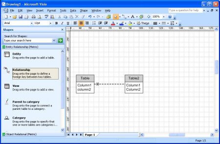 Интерфейс Microsoft Visio 2007 – рис.2